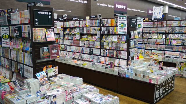 道内のTSUTAYAトップの売上を誇るコミックコーナー